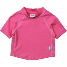 Tee-shirt anti-UV manches courtes - Rose fushia