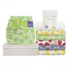 Pack de couches lavables Mioduo Taille 1 (-9 kg) - Panier Fruité - Bambino Mio