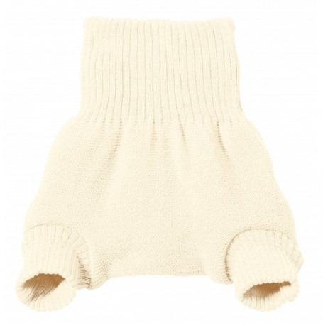 Culotte shorty Blanche en laine mérinos bio - Disana