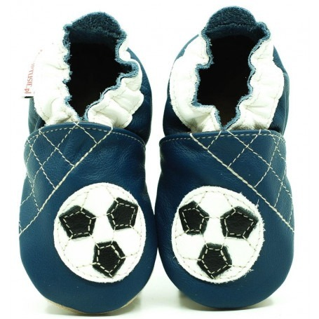 Chaussons cuir souple Ballon de foot