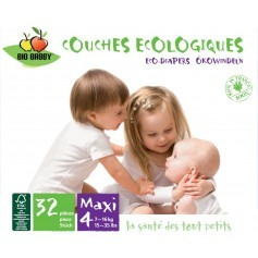 Couches jetables Bio Babby 7/16 kg