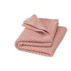 Couverture bébé laine tricotée nid d'abeille - Disana