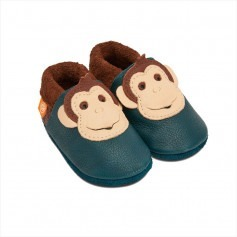 Chaussons cuir souple Pololo King Lui