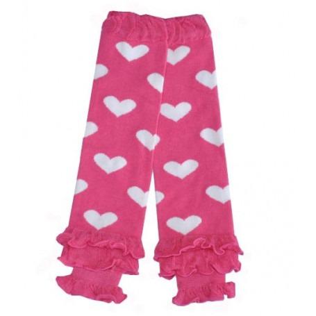 Babylegs Frous-Frou rose coeur