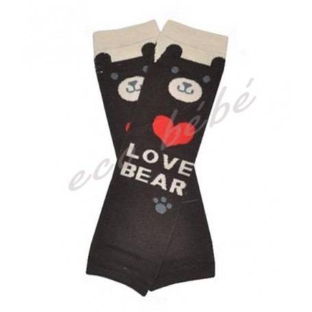 Babylegs rayés I love Bear