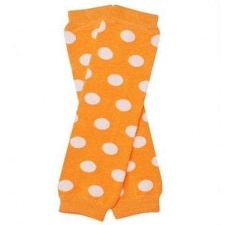 Babylegs orange / pois blanc