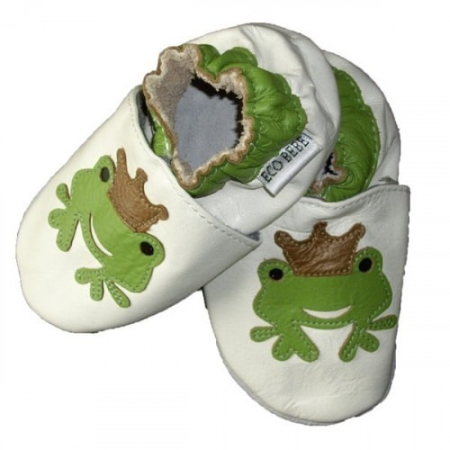 Chaussons cuir souple Grenouille