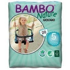Couches apprentissage bamboo Nature 12/20 kg