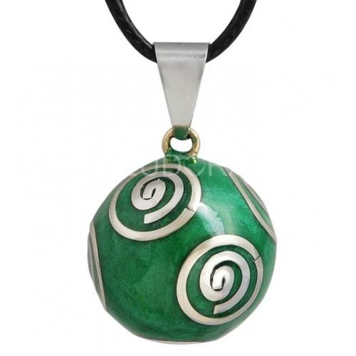 Bola de Grossesse Vert spirale argenté