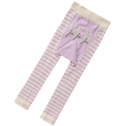 Leggin Piccalilly coton Bio Violet fleur