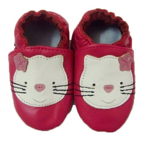 Chaussons cuir souple Hello kitty
