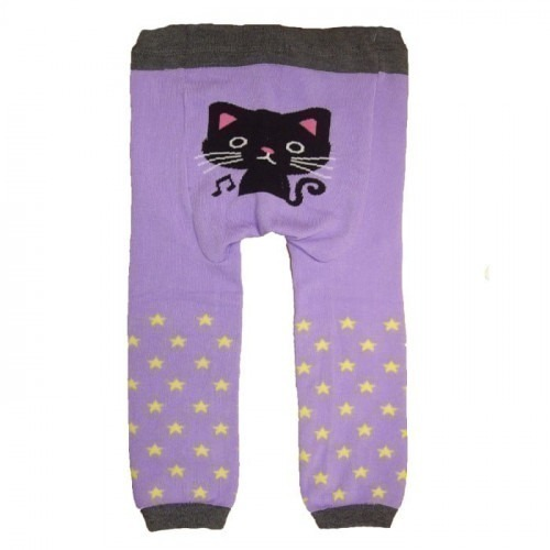 Legging bébé Chat violet