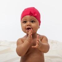 Bonnet de bain Hamac Noeud rose