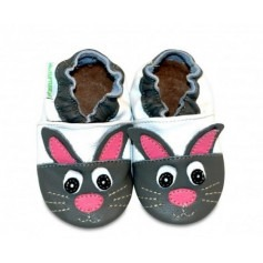 Chaussons cuir souple Hare