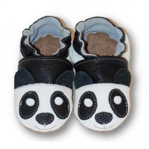 Chaussons cuir souple Panda