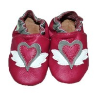 Chaussons cuir souple Jazzie pink