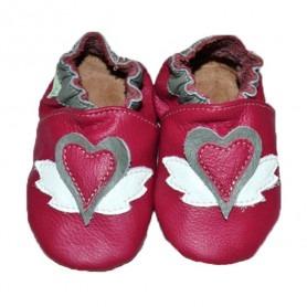 Chaussons cuir souple Jazzie pink