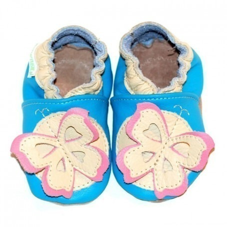 Chaussons cuir souple 4-8 ans Butterfly