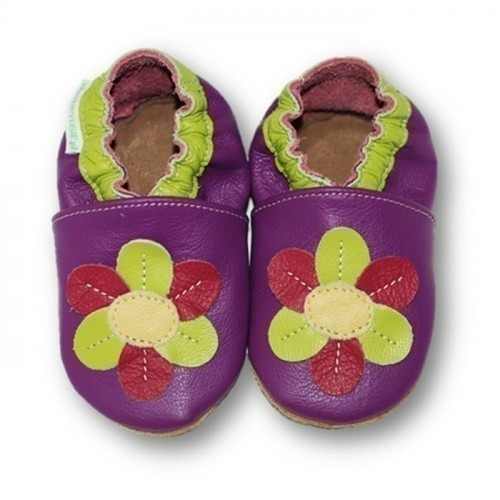 Chaussons cuir souple Daisy