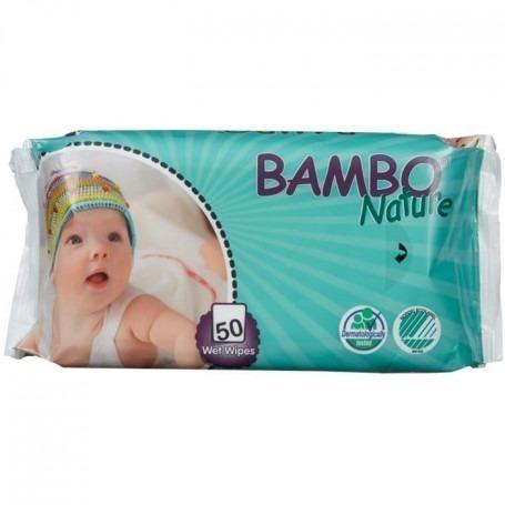 Paquet de 50 lingettes Bambo nature