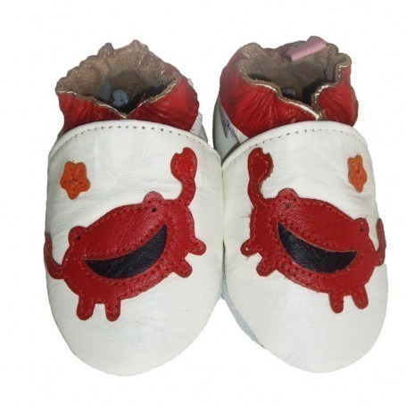 Chaussons cuir souple Crabe
