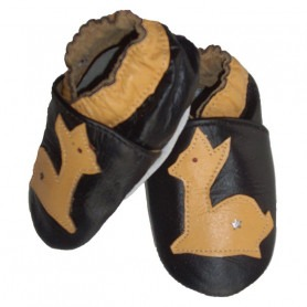Chaussons cuir souple Kangourou