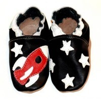 Chaussons cuir souple 4-8 ans Space
