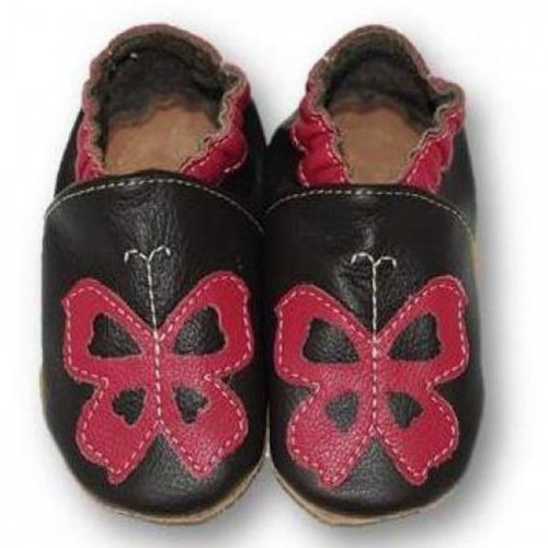 Chaussons cuir souple Butterfly
