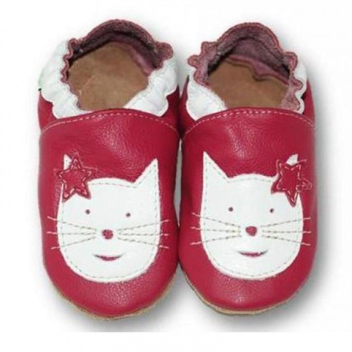 Chaussons cuir souple Cats
