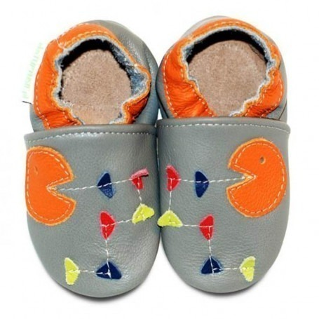 Chaussons cuir souple 4-8 ans Hungry