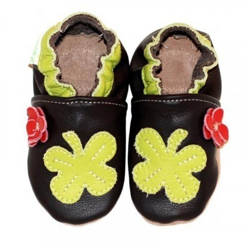 Chaussons cuir souple Clover