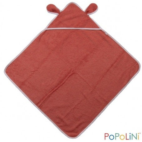 Cape de bain Bio rouge