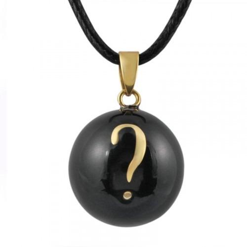 Bola de Grossesse noir point d'interrogation doré