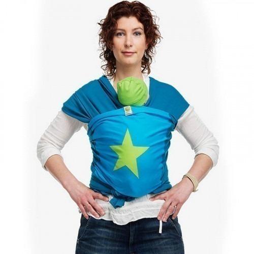 Echarpe de portage BYKAY 4,6m Bleu/Vert