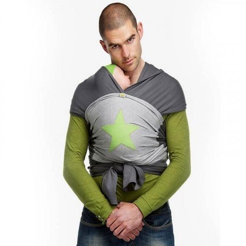 Echarpe de portage BYKAY 4,6m Gris/Vert