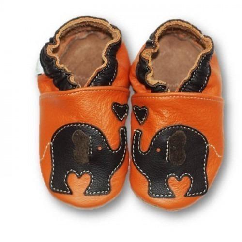 Chaussons cuir souple Eléphant