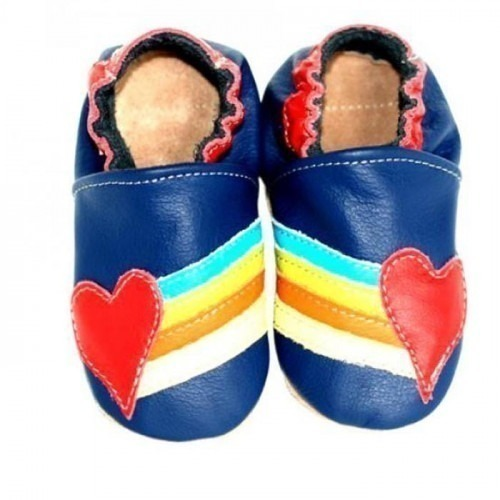 Chaussons cuir souple Rainbow