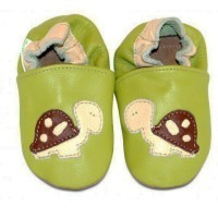 Chaussons cuir souple 4-8 ans Tortue
