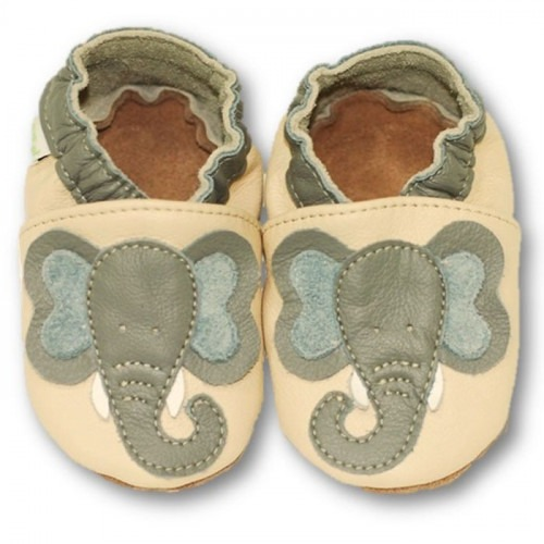 Chaussons cuir souple Dumbo