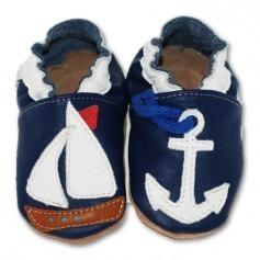 Chaussons cuir souple 4-8 ans petit bateau