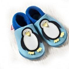 Chaussons cuir souple Pololo Penguin