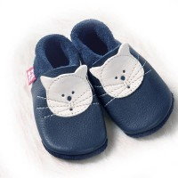 Chaussons cuir souple Pololo Kitty