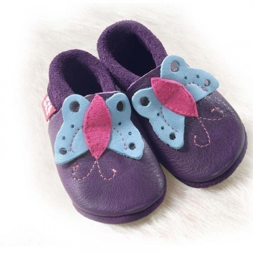 Chausson cuir Pololo Butterfly