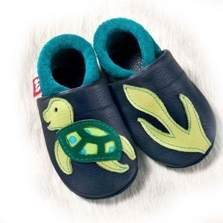 Chausson cuir Pololo Tortue emma