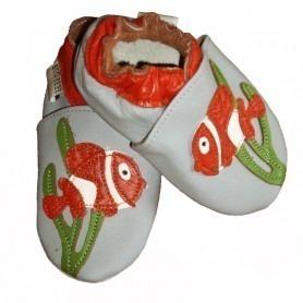 Chaussons cuir souple Nemo