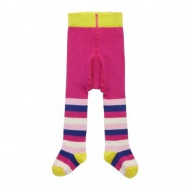 Collant Piccalilly coton bio Pink Stripe