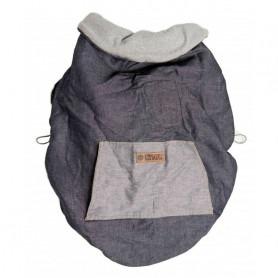 Couverture de portage reversible gris / denim