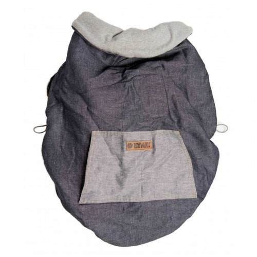 Couverture de portage reversible gris / denim