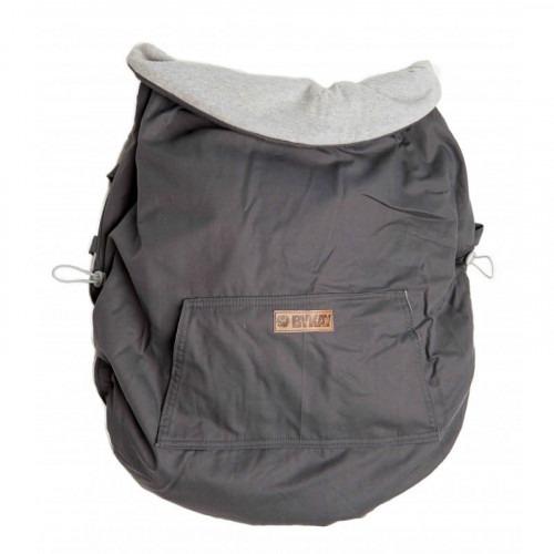 Couverture de portage reversible gris clair / gris foncé
