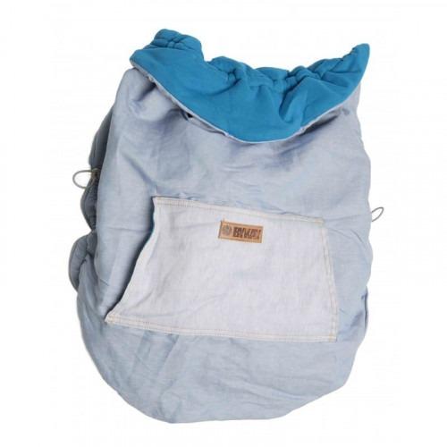 Couverture de portage reversible Turquoise / denim clair